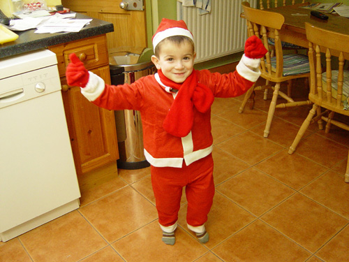 Ander as Father Christmas- December 2006