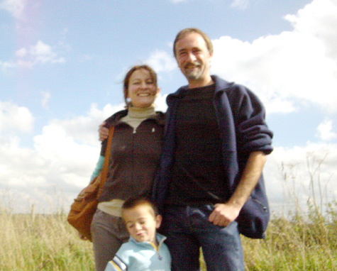 Ander with parents on Ridgeway - September 2006