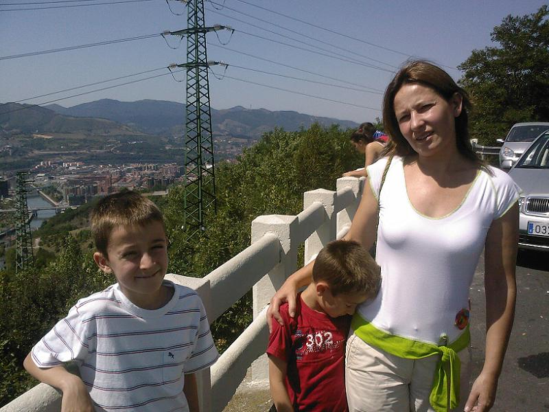 Boys with Mum in Bilbao, August 2009