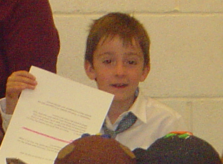 Fuzzy Picture of Xavier in School Play - May 2007
